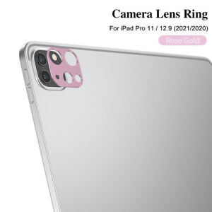 For iPad Pro 11/12.9 2021 2020 Metal Back Camera Lens Protector Full Cover Frame