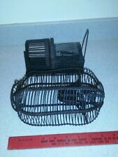 2 Vintage Humane Antique Mouse Traps, Cage Style and Exercise Wheel Type