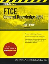 New - CliffsNotes Ftce General Knowledge Test 4th Edition