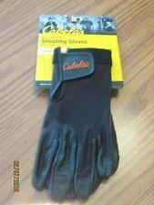 New Men's Cabela's Black Leather Palm Mesh Back Shooting Gloves Lightweight  Med