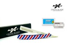Limited Edition White Barber Pole Design  Barber Salon Shaving Razor Rasoi,USA