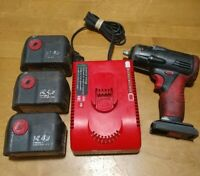 Snap On Ct4410 14.4V 3/8 Impact Wrench Charger and 3 Dead Batteries