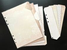 Filofax A5 Organiser Planner - Pale Pink Dividers & Page Marker - Laminated