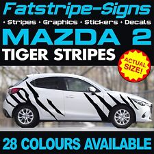 MAZDA 2 TIGER STRIPES GRAPHICS DECALS STICKERS STRIPES CAR VINYL 1.3 1.4 1.6 MZR