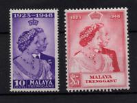 Malaya Trengganu 1948 Silver Wedding mint LHM SG59-60 WS22359