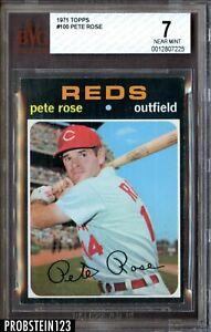 1971 Topps #100 Pete Rose Cincinnati Reds BVG 7 NM