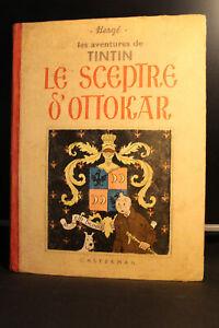 tintin le sceptre d'ottokar A7 1939 EO 500EX