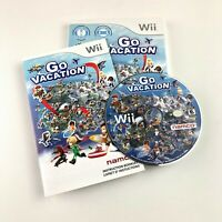 Go Vacation (Nintendo Wii, 2011) Complete & Tested Disc Case & Manual Free Ship