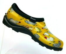 Sloggers Yellow Chicken Waterproof Garden Loafer Shoes Women's 9