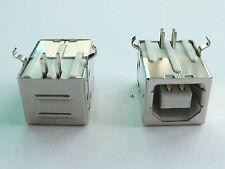 10x USB Jack, Type-B, female, right angle PCB mount