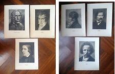 6  GRANDI FOTO  30 x 40 ORIGINALI ANNI '30 : CHERUBINI , SCHUMANN, PETRELLA,....