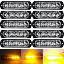 10x 12/24v AMBER CREE 6-LED FLASHING STROBE RECOVERY Emergency Breakdown Light