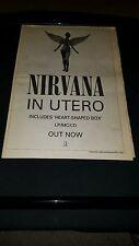 Nirvana In Utero Rare Original U.K. Promo Poster Ad Framed!