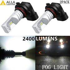 Alla Lighting 2x 2400lm H10 9145 Xtreme Super White CSP SMD LED Fog  Lights Bulb