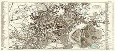 Edinburgh City Map from 1908 Vintage Print Poster (Ward, Lock & Co.)