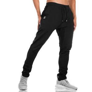 Men Summer Elastic Long Pants Bodybuilding Sweatpants Workout Trousers Jogger