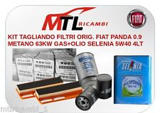 KIT TAGLIANDO FILTRI ORIG. FIAT PANDA 0.9 METANO 63KW GAS+OLIO SELENIA 5W40 4LT