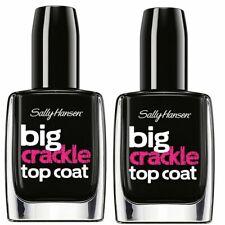 Sally Hansen Big CRACKLE Top Coat 100 BLACK ON Nail Polish (2 Pack)