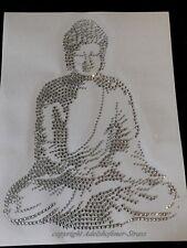 Hotfix  Bügelbild Strass toller großer Buddha 131022  Karostonebox
