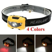 4 Colors AAA LED Fishing Cycling Camping Hiking Headlamp Head Light Lamp Torch