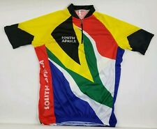 South Africa Mens Cycling Jersey Team Short Sleeve 1/4 Zip Multi Size XL