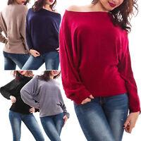 Maglione donna pull maniche pipistrello caldo inverno maglia nuovo AL-2102
