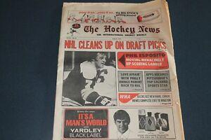 The Hockey News August 1973--Phil Esposito Bernie Parent Syl Apps Darryl Sittler