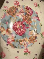 Collier Campbell Cleo Round Large Charger Plate blue pink floral Linea Porcelain