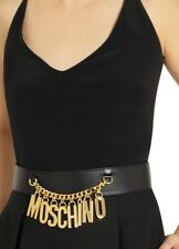 "Moschino Black 42"" High Waist Belt. 100% Authentic"