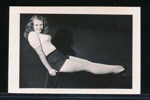 1940s Original Leggy Cheesecake Pin-Up Photo HEADLIGHTS WW2 Noseart vv