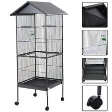 """61"""" Large Parrot Bird Cage Play Top Pet Supplies w/Perch Stand Two Doors Iron"""