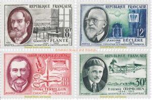 EBS France 1957 Inventors & Scientists - Savants et Inventeurs YT1095-1098 MNH**