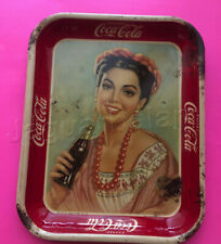 Vintage Mexican Mexico Coca Cola Soda Yucatecan Woman Beautiful Señorita 1940s