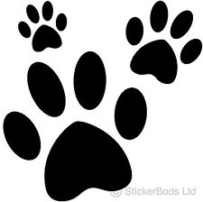 36 PAW PRINTS car stickers wall decals ANY COLOUR T1