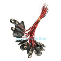 20 Pcs 9 Volt Battery Cable Leads Wires Cord​ Clips Snap-on Terminal Connectors