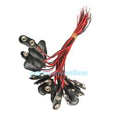 20 Pcs 9 Volt Battery Cable Leads Wires Cord Clips Snap-on Terminal Connectors