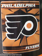 NHL NIB 50x60 ROLLED FLEECE BLANKET ICE DESIGN - PHILADELPHIA FLYERS