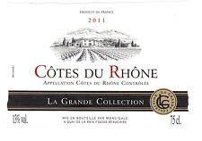Etiquette de vin - Wine Label - Côte du Rhône - 2011