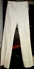 Men's US Navy White Uniform Dress Pants Trousers 36L Unhemmed