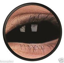 lentille de couleur sclera NOIRE complete integrale lens black scleral contact