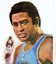 """Willis Reed-New York Knicks 1970 Keds Shoes Pullout Poster 8 1/2"""" X 11""""-Rare"""
