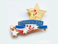 Gymnastic Star Lapel Pin - Bold New Cutout Design