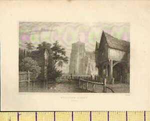 C1800 Antik Georgianisch Aufdruck ~ Waltham Abbey ~ Essex