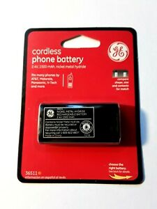 GE Cordless Phone Battery 2.4V 1500 mAh (36511) At&t - Motorola - Panasonic