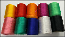 10 Heavy Duty Embroidery SewingThreads Best 10 Colours Spools | UK