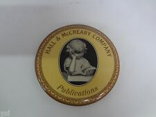 VINTAGE ADVERTISING  MIRROR PAPER WEIGHT HALL & McCREARY PUBLICATIONS  S-1872