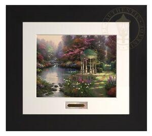 Thomas Kinkade Garden of Prayer 11 x 14 Modern Home Collection Espresso Frame
