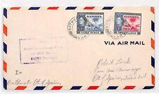 BH17 1942 WW2 GAMBIA Bathurst TRINIDAD Port of Spain Airmail Cover ELEPHANT PALM