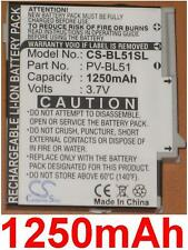 Batterie 1250mAh Pour T-MOBILE 2009, PV300, Sidekick LX type PV-BL51