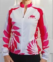 JIVANA Ladies Womens Cycling Bike Jersey Pink & White Sport Jacket S M L XL XXL